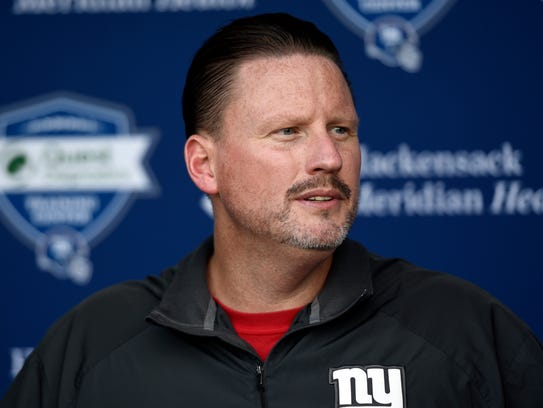 New York Giants head coach Ben McAdoo pictured on Sept.
