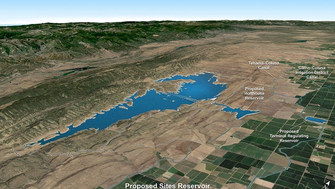 The proposed Sites Reservoir would be built about 10 miles west of Maxwell.