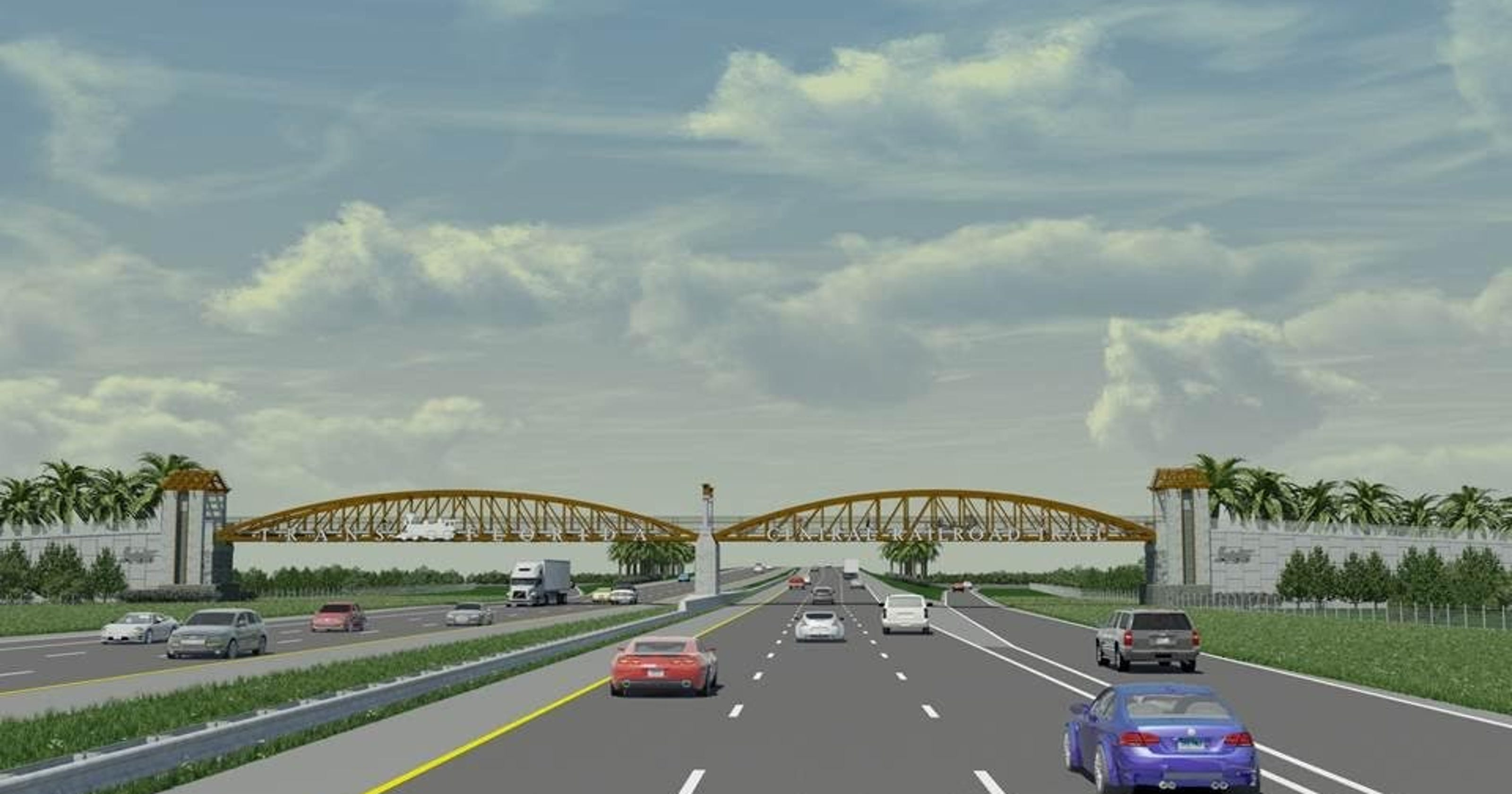 Interstate 95 pedestrian overpass to honor old railroad   Video