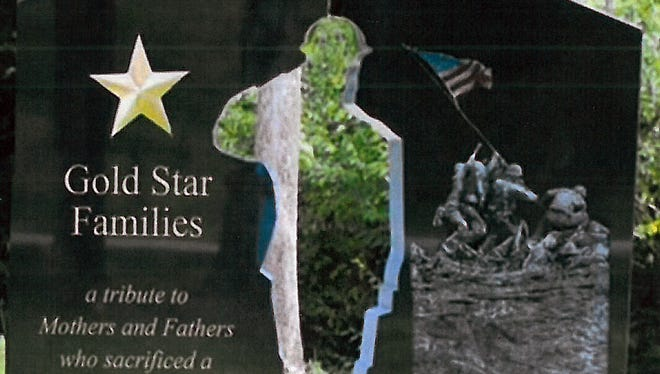 A Gold Star Family memorial similar to this will be put in Veteran Memorial Park in Fairfield and dedicated Memorial Day 2015.