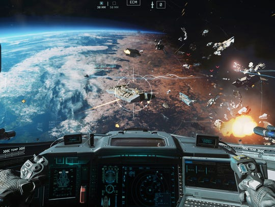 The video game 'Call of Duty: Infinite Warfare' takes