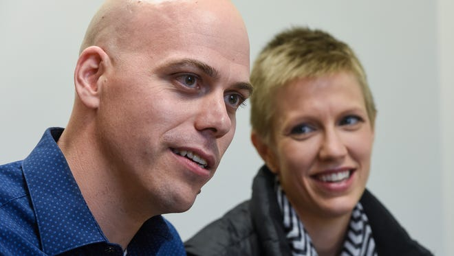 Carl and Angel Larsen talk about their beliefs during an interview Wednesday, Dec. 7, in St. Cloud. The Larsens have filed a lawsuit in federal court challenging provisions of the Minnesota Human Rights Act. The Larsens own Telescope Media Group.