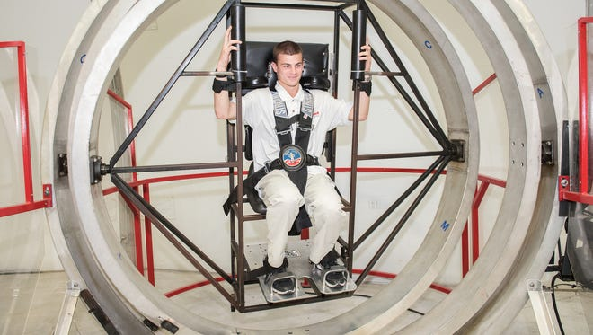 John  Kay of Kinnelon, was able to experience astronaut training at the space center at Huntsville, Ala., last month.
