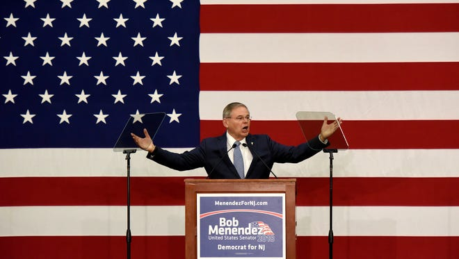 Sen. Robert Menendez officially launches his reelection bid to a third term in the United States Senate with a kickoff rally in his hometown of Union City at Union City High School on Wednesday, March 28, 2018.