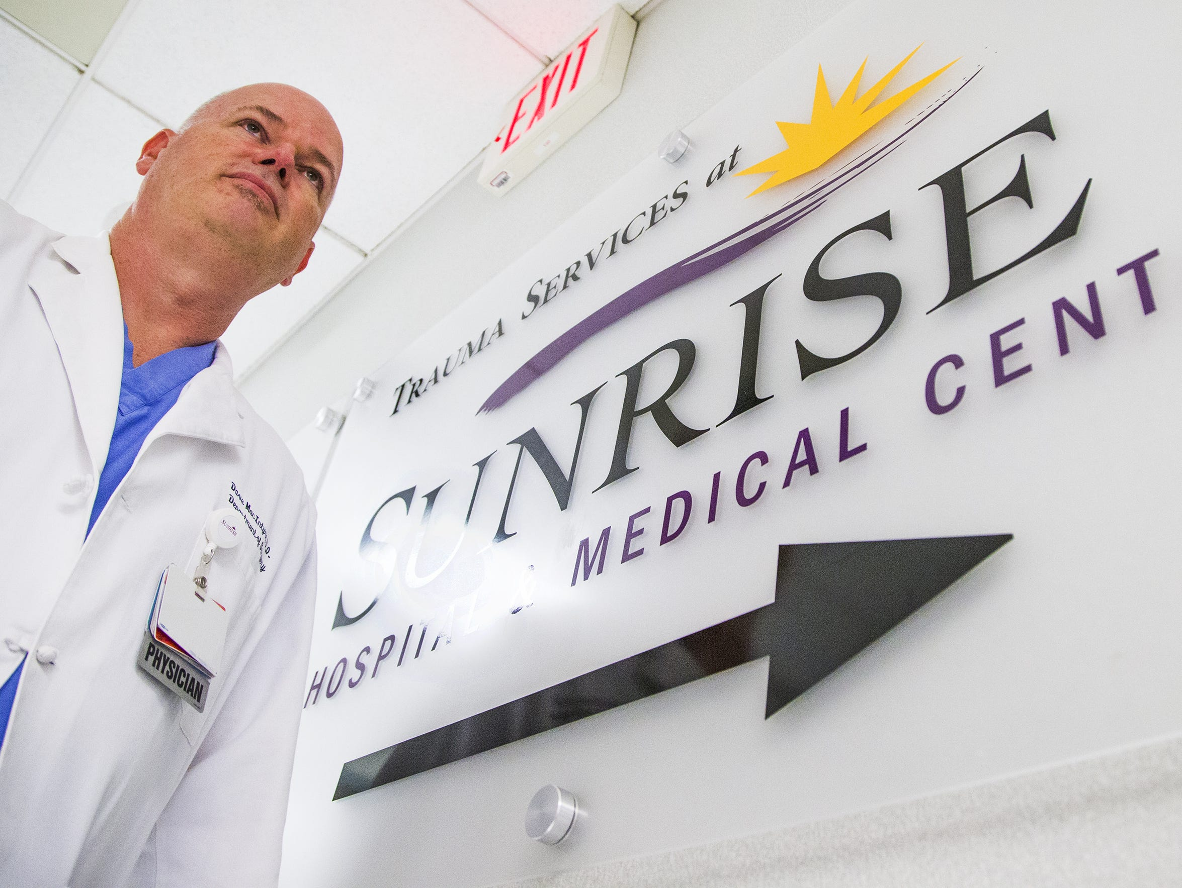Dr. Dave MacIntyre, a trauma surgeon at Sunrise Hospital and Medical Center in Las Vegas.