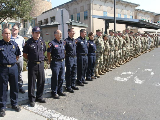 Soldiers from the 49th Military Police Brigade and