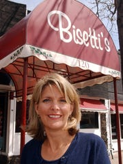 Heather Bisetti is pictured outside Bisetti's Ristorante