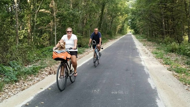The Marion Tallgrass Trail was completed this past year with the final mile paved. No tax dollars were used in the creation of the trail, which is used by runners, walkers, bicyclists, pet walkers and more.