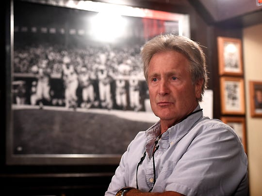 After 37 years, The Downtown Lounge owner Pat Riley is ready to sell. For more than three decades, Riley has collected more than 500 pieces of sports memorabilia, many of which are displayed in the Lebanon fixture.