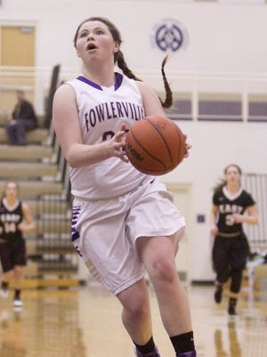 Jackie Jarvis of Fowlerville scored a game-high 19 points to fuel the Glads in their win against South Lyon East.