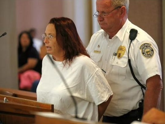Sandra Harris appearing in court Wednesday.