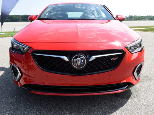 The 2018 Buick Regal GS is introduced during a media