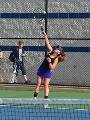 No. 1 singles Haley Lesiow helped Lakeview win its