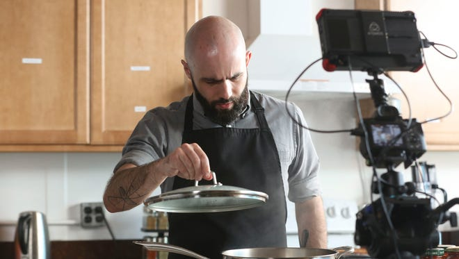 Andrew Rea, the creator of the YouTube channel Binging with Babish, filmed an episode at The Harley School on Tuesday, May 1, 2018.