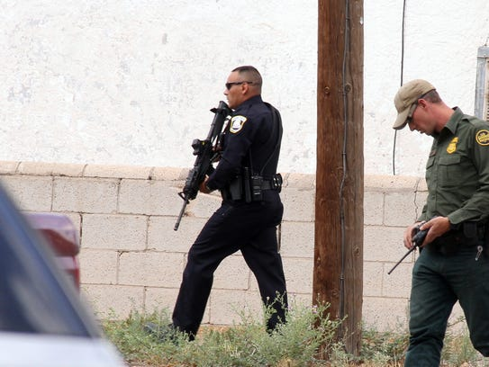 Deming Police and US Border agents scoured the neighborhood