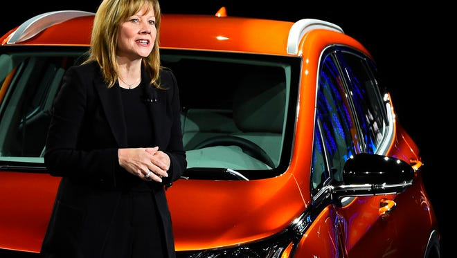 Mary Barra, chairman and CEO of General Motors, will be part of the forum. She is pictured in Detroit on Jan. 11, 2016.