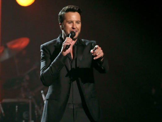 "Luke Bryan performs ""Penny Lover"" for a tribute to"