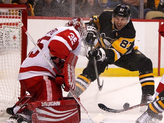 Jimmy Howard, Sidney Crosby