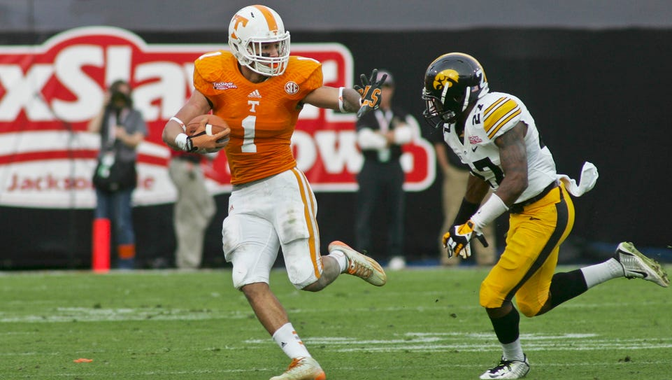 Iowa spent the 2015 TaxSlayer Bowl chasing Tennessee.