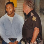 Mike Tyson is taken to court on June 13, 1994, for his request for early release from prison. The request was denied.