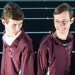 Snow Hill seniors Ben and Luke Schofield pose for a photo at Snow Hill High School on Tuesday, Feb 2.