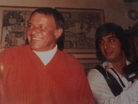 Pat Rizzo (right) played at Frank Sinatra's parties