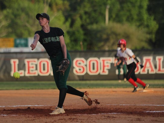 Lincoln senior pitcher Kelsie Rivers threw a five-inning no-hitter in a 10-0 win over Leon to start her season.