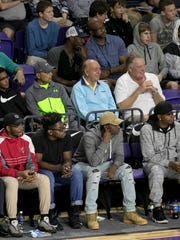 Dick Vitale, center, watches as Montverde Academy takes on IMG Academy in the semifinals of the 44th Annual Culligan City of Palms Classic at Suncoast Credit Union Arena on Tuesday in south Fort Myers.