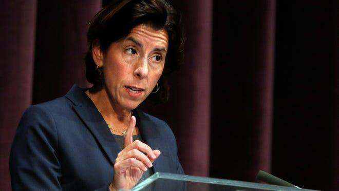Gov. Gina Raimondo on Thursday announced that companies must close their break rooms for 90 days.
