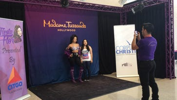 A wax figure of Selena from Madame Tussauds Hollywood was a big draw for fans of the Tejano legend.