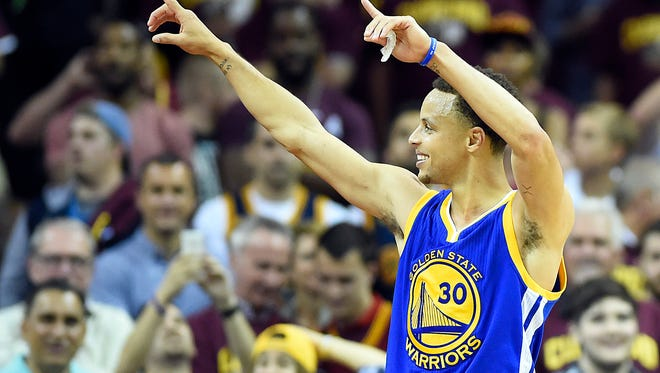 Stephen Curry and the Golden State Warriors top the list as the NBA's best player and team from 2015.