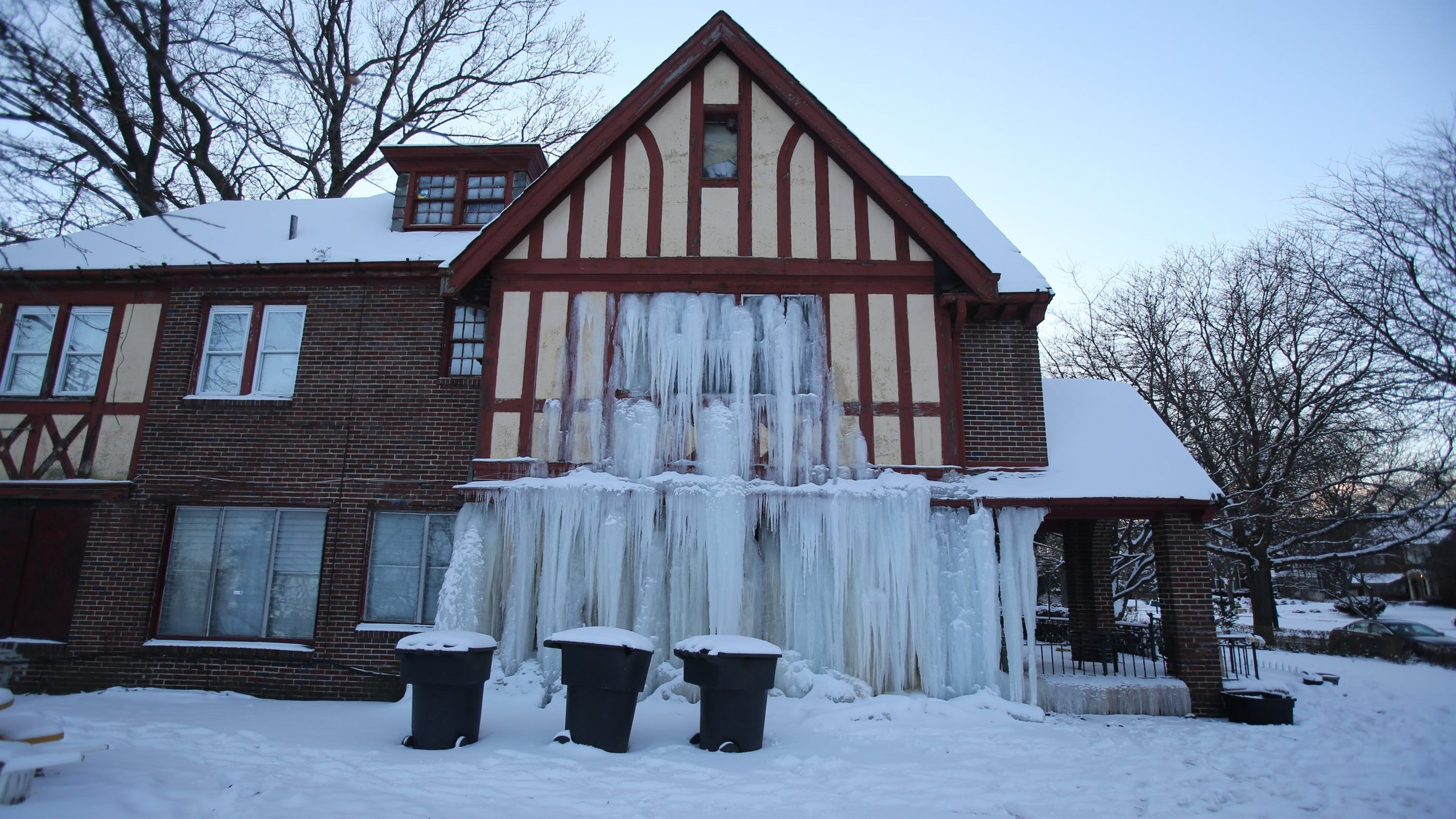 Detroit Home Is Frozen After Water Pipes Freeze And Burst