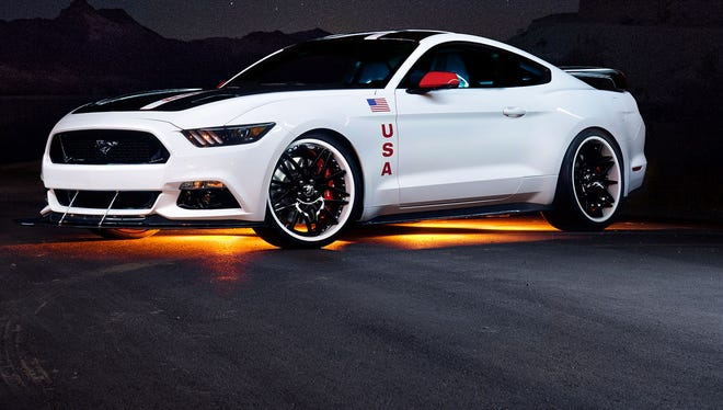 The Experimental Aircraft Association pays honor to the Apollo space program with this Ford Mustang