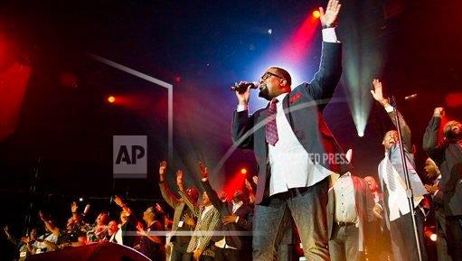 Hezekiah Walker performs during McDonald's Gospelfest 2013 at the Prudential Center in Newark, N.J., on May 11, 2013.