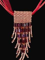 "Jeanne McKenna, ""Dancing Wind,"" woven beaded jewelry"