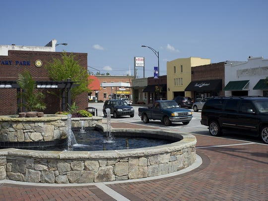 Rotary Park in downtown Fountain Inn.