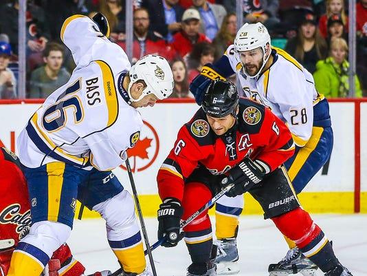 USP NHL: NASHVILLE PREDATORS AT CALGARY FLAMES S HKN CAN AL