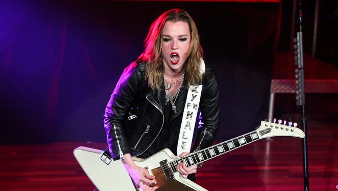 Singer and guitarist Lzzy Hale of Halestorm performed in April at the Ryman Auditorium in Nashville. The band will visit the PAC in October.