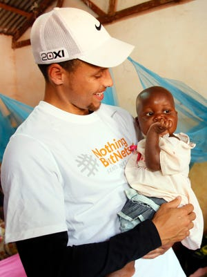 Warriors star Stephen Curry visited Tanzania in July with the Nothing But Nets foundation that has helped improving health conditions in the country.