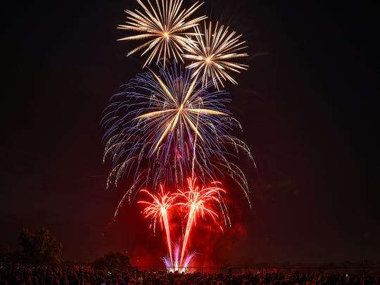 Fireworks over Hester Park in St. Cloud in this July 4, 2018 file photo.