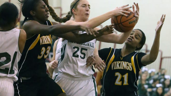 South Brunswick at East Brunswick girls basketball held at Churchill Junior High School in East Brunswick on Tuesday January 26,2016.