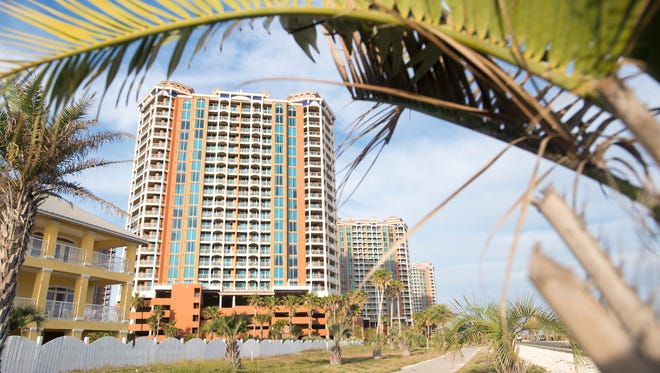 Pensacola Beach officials have rejected construction bids for a bathroom near Portofino Island Resort, saying the $1 million price tag is too steep.