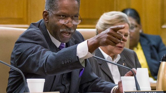 Democratic Sen. Reginald Tate of Memphis, shown here during a committee meeting in 2013, lost his Democratic primary race to political newcomer Katrina Robinson on Thursday.