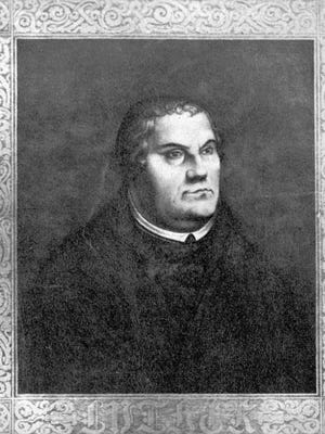 """Undated image of Martin Luther, German theologian and Augustinian monk, who started the Protestant Reformation with his """"95 Theses."""""""