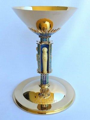 Depiction of chalice stolen in burglary at St. Joseph's Catholice Church in Waukesha.