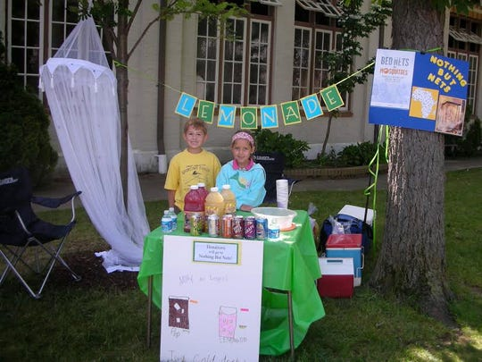 Molly McNamara and Logan Martens started their first lemonade stand at Lakeside to raise money to prevent malaria in 2007.