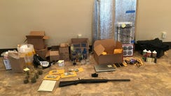 Items collected in a Newtown home by police.