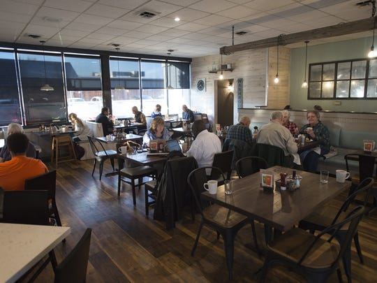 The early morning crowd eats breakfast at Egg & I's original midtown location on Friday, October 20, 2017. The popular breakfast and brunch spot, now franchised across the country, is celebrating 30 years after getting its start in Fort Collins.