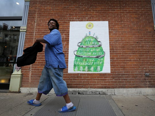 A mini-mural by local artist Lizzy DuQuette that is