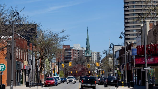 Many restaurants and shops line Christina Street North in Sarnia.